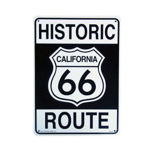 【PLASTIC SIGN BOARD】プラスチックサインボード HISTORIC ROUTE66|coolbiker-second