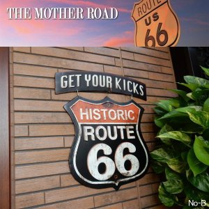 サインボード アルミニウム GET YOUR KICKS Sign RT.66  ROUTE66 (No-B)|coolbiker-second