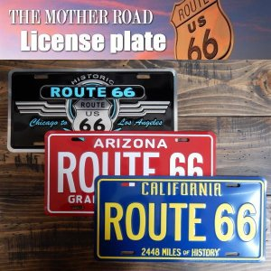 ROUTE66 ライセンスプレート アメリカ製 CALIFORNIA/ARIZONA|coolbiker-second