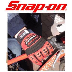 手袋 グローブ バイク 自転車 Snap On スナップオン メカニックグローブ RED coolbiker-second