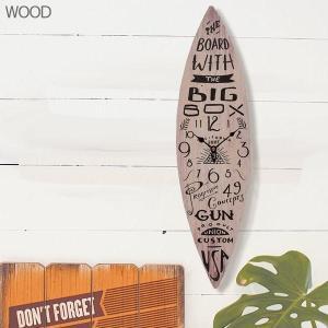 サーフボード ウォールクロック/壁掛け時計「SURF BOARD/ウッド」|coolbiker-second