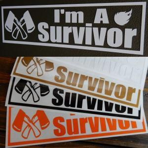 Survivor サバイバル人 アウトドア キャンプ 文字だけが残る カッティングステッカー サバイ...