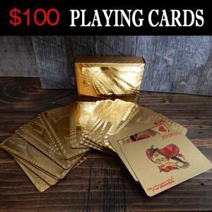 $100 Dollar トランプ GDLD ゴールド 金色 大富豪 PLAYING CARDS|coolbikers