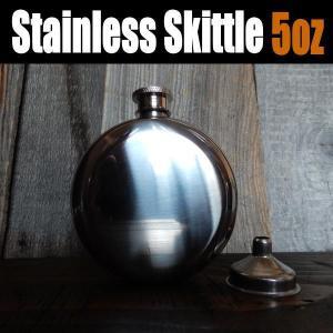 スキットル ヒップフラスコ ウイスキーボトル フラスクボトル Stainless Skittle R...