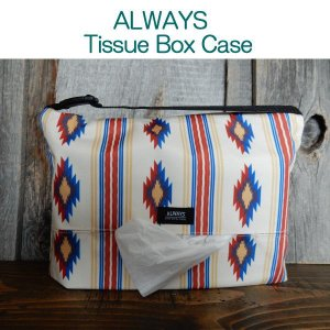 ALWAYS テッシュボックスケース Tissue Box Case 撥水 CAMPER (ネイティブ)|coolbikers