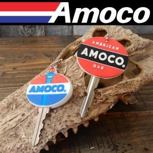 立体ラバーキーキャップ 2P AMOCO アモコ LOGO KEY CAP SET 2個入り 鍵 キーリング(キーホルダー) coolbikers