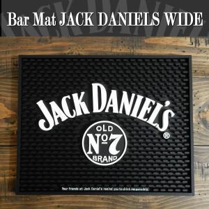 バーマット カウンター Bar Mat JACK DANIELS (ジャック・ダニエル) グラス置き/キッチン雑貨 ワイド|coolbikers