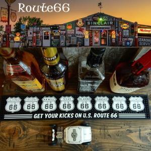 バーマット カウンター Bar Mat  Route66 ルート66 グラス置き/キッチン雑貨|coolbikers