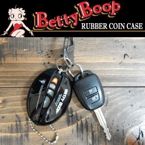 BETTY BOOP ベティ・ブープ RUBBER COIN CASE ラバーコインケース キーチェーン 小銭入れ|coolbikers