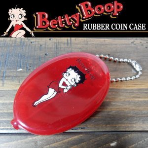 BETTY BOOP ベティ・ブープ RUBBER COIN CASE ラバーコインケース キーチェーン 小銭入れ レッド coolbikers