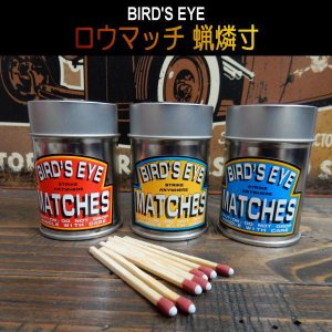 【3カラー】BIRD'S EYE 丸缶 MATCHES「S.A.W.」STRIKE ANYWHERE MATCH ロウマッチ サバイバル 蝋燐寸|coolbikers