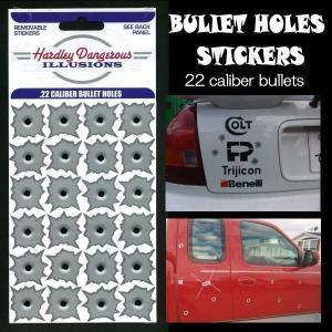 22口径 CALIBER BULLET HOLES 弾痕(弾丸跡)ステッカー|coolbikers