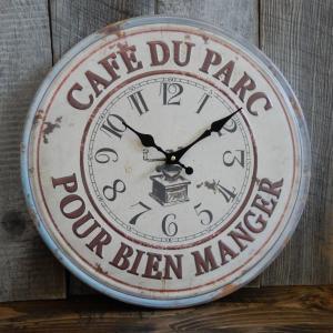 掛け時計 壁掛け Hanging clock ヨーロピアンウォールクロック 40cm インテリア時計 CAFE DU PARC|coolbikers