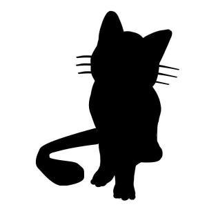 【送料無料】CAT ねこ 猫 ステッカー キャット シルエット カー用品 カーアクセサリー 雑貨 自動車 カッティング 文字だけが残る 2カラー お座り coolbikers