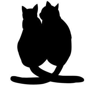 【送料無料】CAT ねこ 猫 ステッカー キャット シルエット カー用品 カーアクセサリー 雑貨 自動車 カッティング 文字だけが残る 2カラー 夫婦 カップル coolbikers