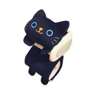 トイレ ペーパーホルダーカバー ねこのしっぽー クロ ME52 猫用品・黒猫 トイレ/便所用品 coolbikers