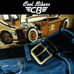 本革ベルト COOLBIKERS クールバイカーズ 日本製 一枚革 ブラック|coolbikers