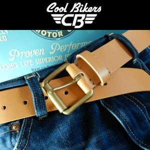 本革ベルト COOLBIKERS クールバイカーズ 日本製 一枚革 ナチュラル|coolbikers