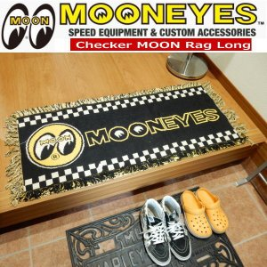 MOONEYES Floor Mats Checker ムーンアイズ フロア マット ラグマット チェッカー ロング MG625BK|coolbikers