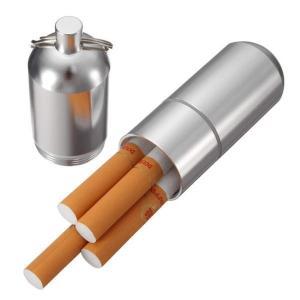 筒型携帯灰皿 シガレットケース 煙草入れ ピルケース マッチ タバコケース キーホルダー 軽量/頑丈アルミ製|coolbikers|02