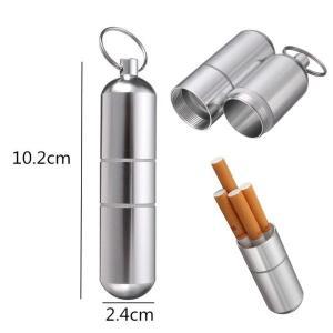 筒型携帯灰皿 シガレットケース 煙草入れ ピルケース マッチ タバコケース キーホルダー 軽量/頑丈アルミ製|coolbikers|03