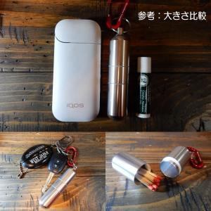筒型携帯灰皿 シガレットケース 煙草入れ ピルケース マッチ タバコケース キーホルダー 軽量/頑丈アルミ製|coolbikers|05