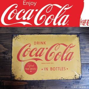 コカ・コーラ サインボード エンボス 立体 ティンサインボード ビンテージ加工 コークロゴ TIN SIGNS COKE LOGO|coolbikers
