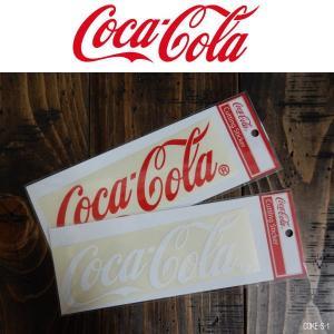 コカ・コーラ コークロゴ ステッカー Cutting Stiker シール ホワイト/レッド|coolbikers