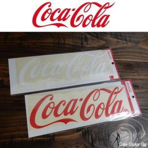 コカ・コーラ コークロゴ ステッカー Cutting Stiker シール ホワイト/レッド BIG|coolbikers