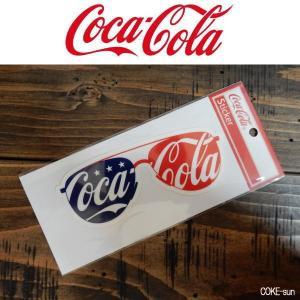 コカ・コーラ コーク ステッカー Cutting Stiker シール サングラス 星条旗 アメリカ|coolbikers