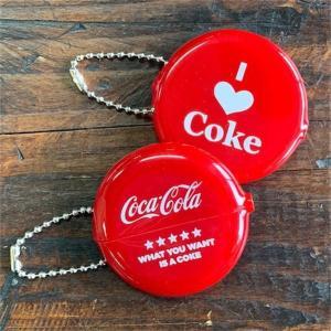 コカ・コーラ コーク COKE COIN CASE K/C 小銭入れ RUBBER COIN CASE ラバーコインケースキーチェーン 丸 Round / LOVE / CHOOSE|coolbikers