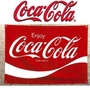 リアル・フラッグ 旗 COKE コカ・コーラ コーク FABRIC SIGN (LOGO) PJ-FS01 タペストリー アメリカン雑貨 ガレージ インテリア|coolbikers