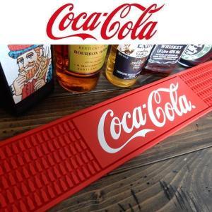 コカ・コーラ コーク COKE Rubber Mat (LONG) PJ-RM01 Bar Mat グラス置き/キッチン雑貨 ロング 長方形|coolbikers