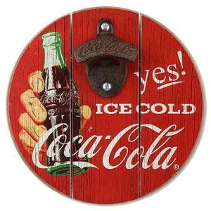 コカ・コーラ Coca-Cola COKE ウッディー ボトルオープナー 木製 栓抜き Opener|coolbikers