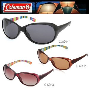 【6色】レディース Coleman コールマン 偏光サングラス スモーク&ブラウン ドライブ ストライプ柄 おしゃれ Coleman CLA01|coolbikers