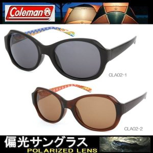 【2色】レディース Coleman コールマン 偏光サングラス スモーク&ブラウン ドライブ フェスウェーブ柄 おしゃれ Coleman CLA02|coolbikers