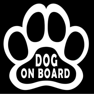 【送料無料】DOG-ON-BOARD 肉球 ステッカー 足跡 犬 猫 カー用品 カーアクセサリー 雑貨 自動車 カッティング 文字だけが残る ホワイト coolbikers