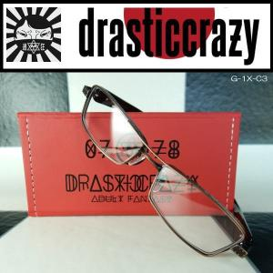 DRASTICCRAZY ドラスティッククレイジー 眼鏡 めがね メガネ 鯖江 Titanium 日本製 G-1X-C3|coolbikers