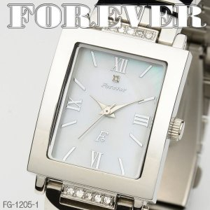 FOREVER フォーエバー メンズウォッチ 天然シェル&天然ダイヤ 4年電池 FG1205-1|coolbikers