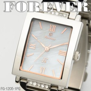 FOREVER フォーエバー メンズウォッチ 天然シェル&天然ダイヤ 4年電池 FG1205-1PG|coolbikers
