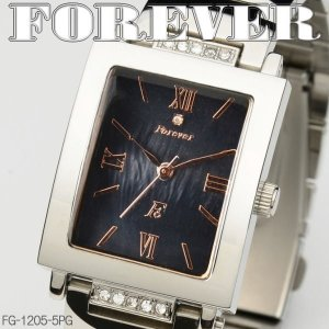 FOREVER フォーエバー メンズウォッチ 天然シェル&天然ダイヤ 4年電池 FG1205-5PG|coolbikers