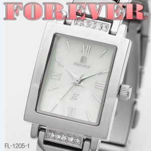 FOREVER フォーエバー レディースウォッチ 天然シェル&天然ダイヤ 4年電池 FL1205-1|coolbikers