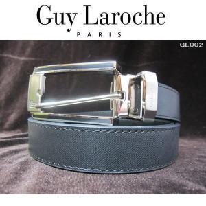 Guylaroche ギラロッシュ 本革ベルト 紳士 ブラック 大型バックル GL002|coolbikers