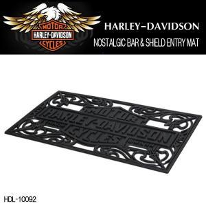ハーレーダビッドソン HARLEY-DAVIDSON NOSTALGIC BAR & SHIELD ENTRY MAT エントリーマット 玄関マット HDL-10092|coolbikers