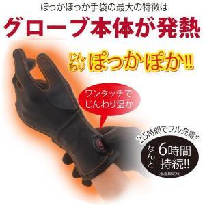 充電式ホットインナーグローブ ほっかほっかインナー手袋