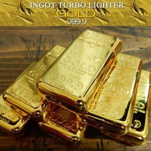 インゴット ターボライター Type5 GOLD ゴールド 金の延棒 おもしろライター INGOT TURBO LIGHTER|coolbikers