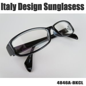 サングラス 黒縁メガネ 伊達めがね Italy Design イタリーデザイン 4846A-BKCL|coolbikers