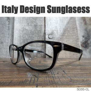 サングラス 黒縁メガネ 伊達めがね Italy Design イタリーデザイン サムクロ ジャックス 5035-CL|coolbikers
