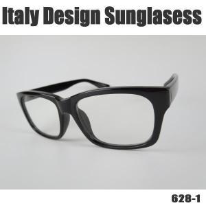 サングラス 黒縁メガネ 伊達めがね Italy Design イタリーデザイン ITALY-628-1|coolbikers