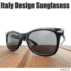 サングラス 黒縁メガネ 伊達めがね Italy Design イタリーデザイン E43-2/BK|coolbikers
